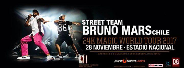 Bruno Mars en Chile - 24K Magic World Tour 2017