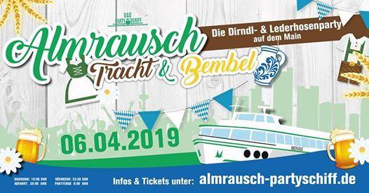 Almrausch - Tracht & Bembel Tour 2019 - Das Partyschiff