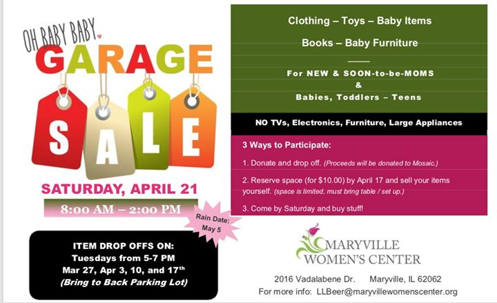 Oh Baby Baby Garage Sale At Maryville Women S Center Maryville