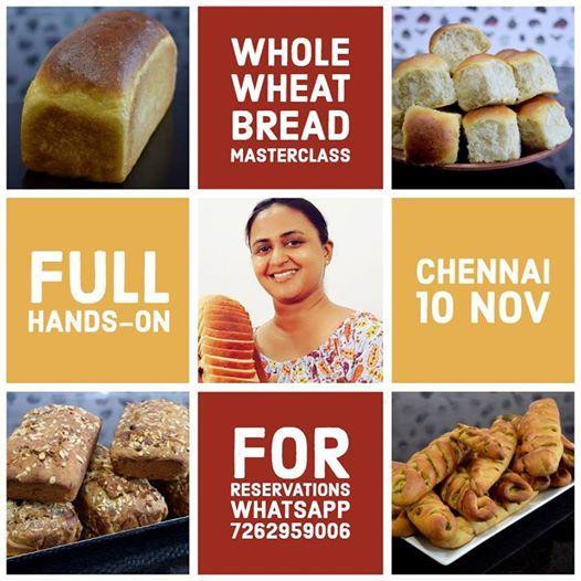 Whole Wheat Bread MasterClass - Chennai