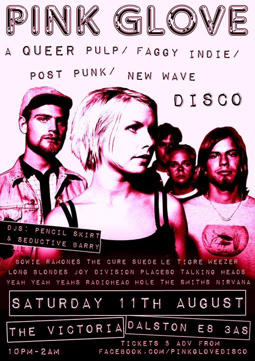 Pink Glove a Queer Pulp  Indie  Post Punk  New Wave disco