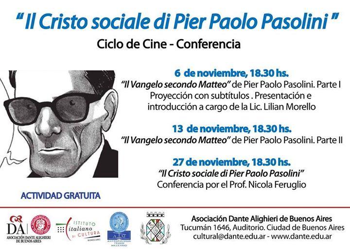 El Cristo Social de Pier Paolo Pasolini (conferencias)
