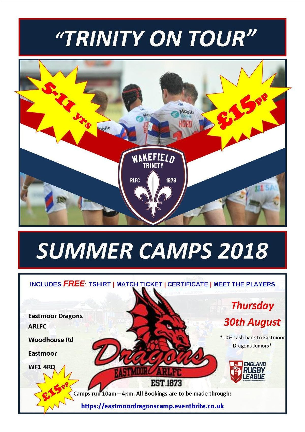 Trinity On Tour - Summer Camp - EASTMOOR DRAGONS