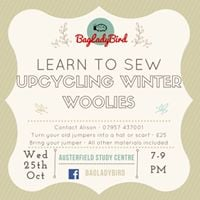 Learn to Sew Upcycling Winter Woolies Workshop (DN10 6RG)
