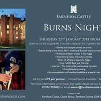 Burns Night at Farnham Castle