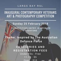 Inaugural Contemporary Veterans Art &amp Photography Competition