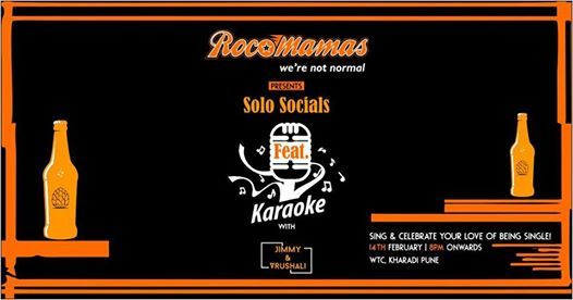 Solo Socials - Karaoke Night RocoMamas on 14th Feb