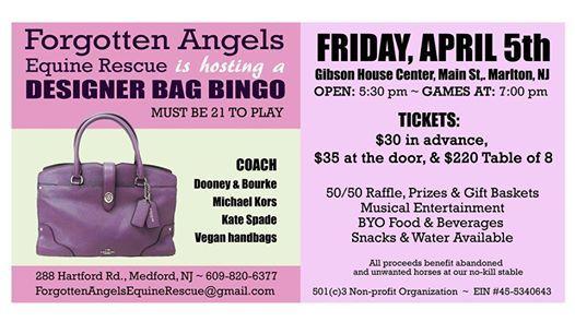 Bingo Bingo Designer Bags Games And Baskets At The