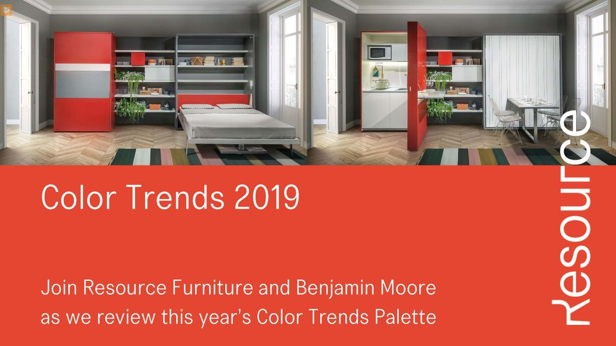 Resource Furniture x Benjamin Moore: Color Trends 2019 at