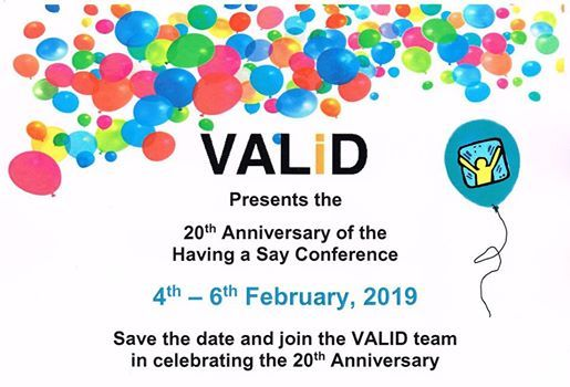 VALiDs 20th Anniversary of the Having a Say Conference