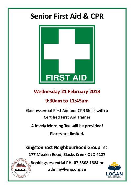 First Aid And Cpr For Seniors At Kingston East Neighbourhood Group