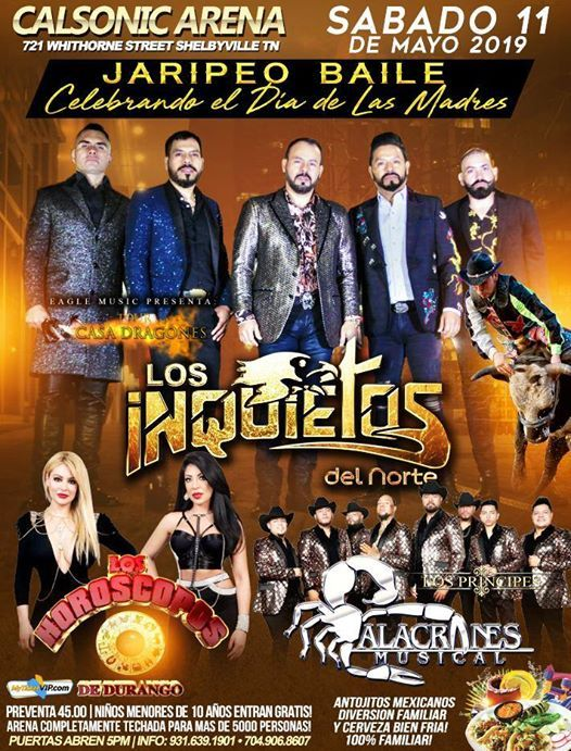 Jaripeo Baile Shelbyville TN at Calsonic Arena, Tennessee