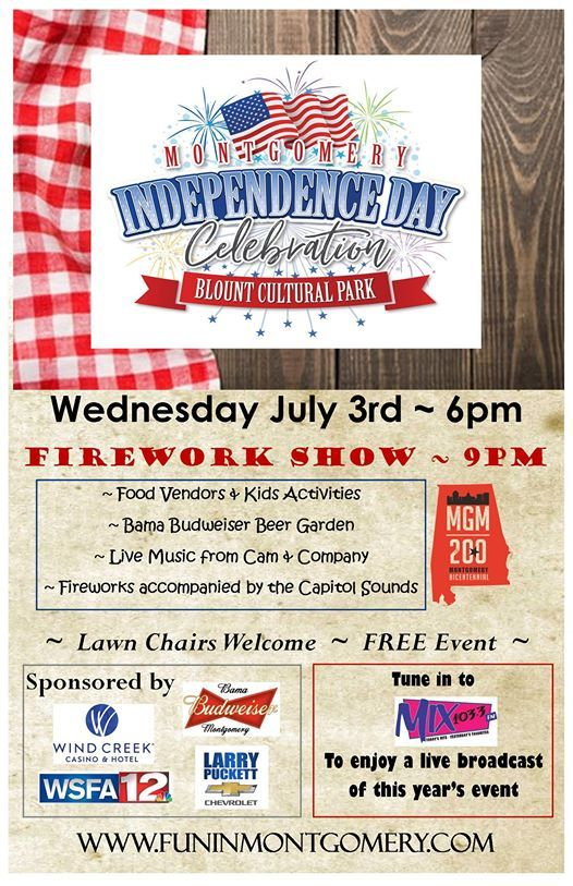 Montgomerys Independence Day Celebration at Blount Cultural Park