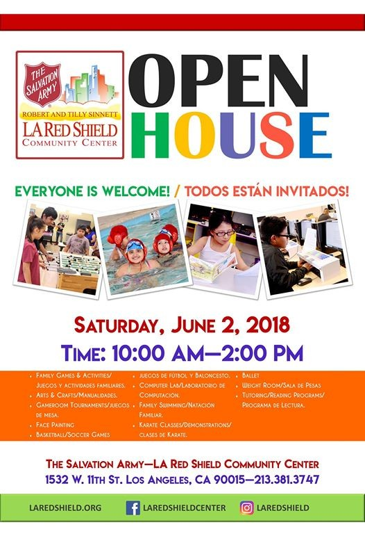 Open House At L A Red Shield Community Center California