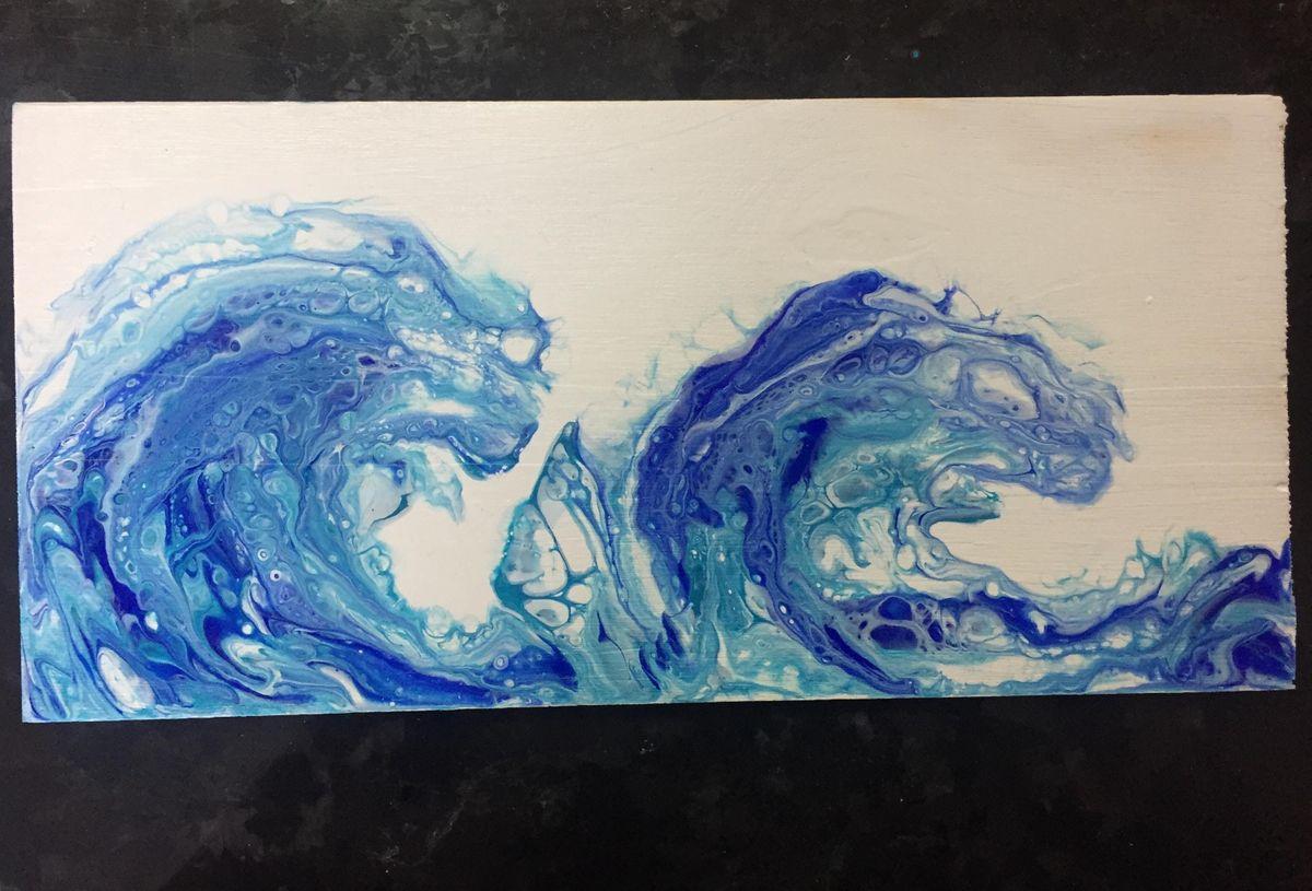 Fluid Acrylic Wave Painting