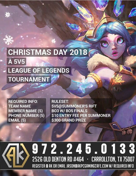 LoL Tournament Christmas Day at AK PC Gaming CAFE2625 Old