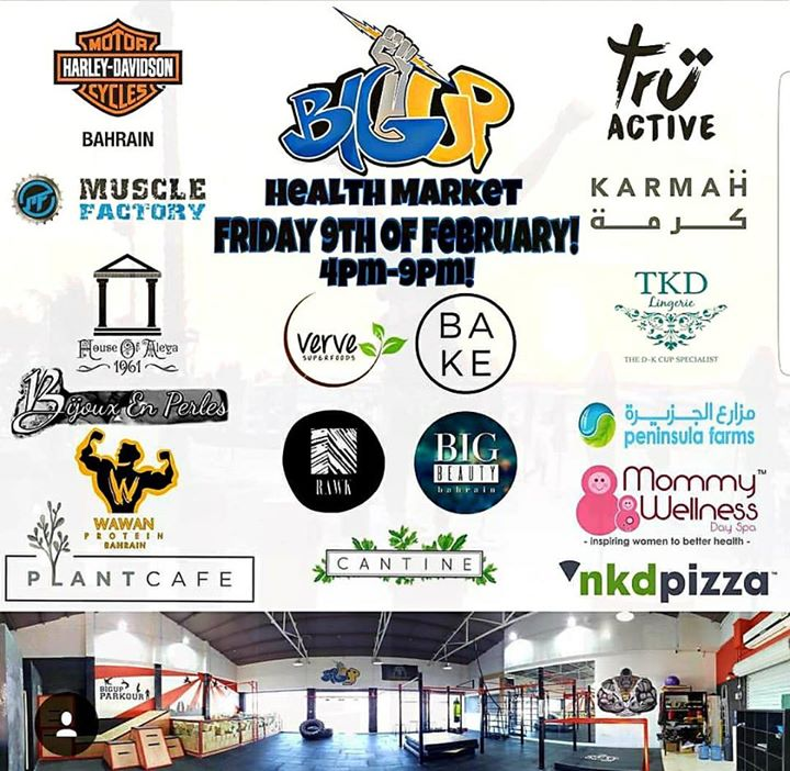 Big Up Health Market from 4-10pm at Harley-Davidson Bahrain, Budaiya