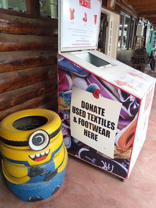 Textile donate bins