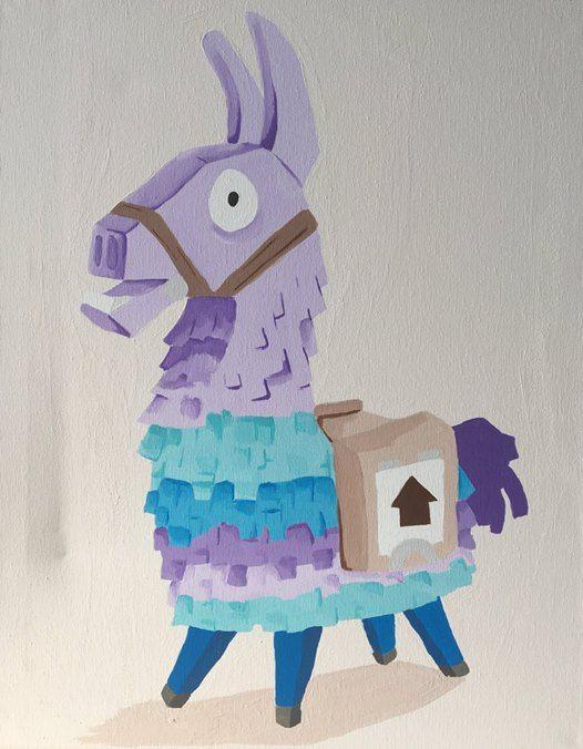 Fortnite Llama Painting