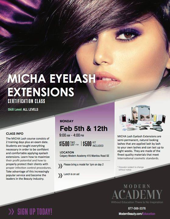 Micha Eyelash Extensions Calgary At Modern Beauty Supplies Calgary