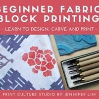Beginner Fabric Block Printing - Learn to Design Carve &amp Paint