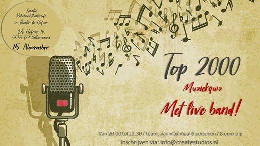 Top 2000 muziekquiz met live band - Theater de Hofnar