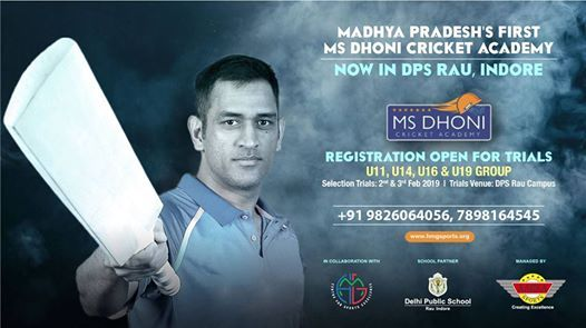 MS Dhoni Cricket Academy Indore