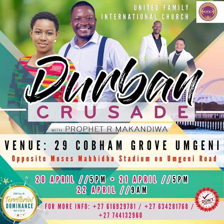 Durban Crusade with Prophet R Makandiwa
