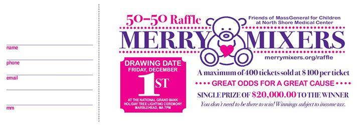 Merry Mixers 50/50 Raffle Drawing at National Grand Bank