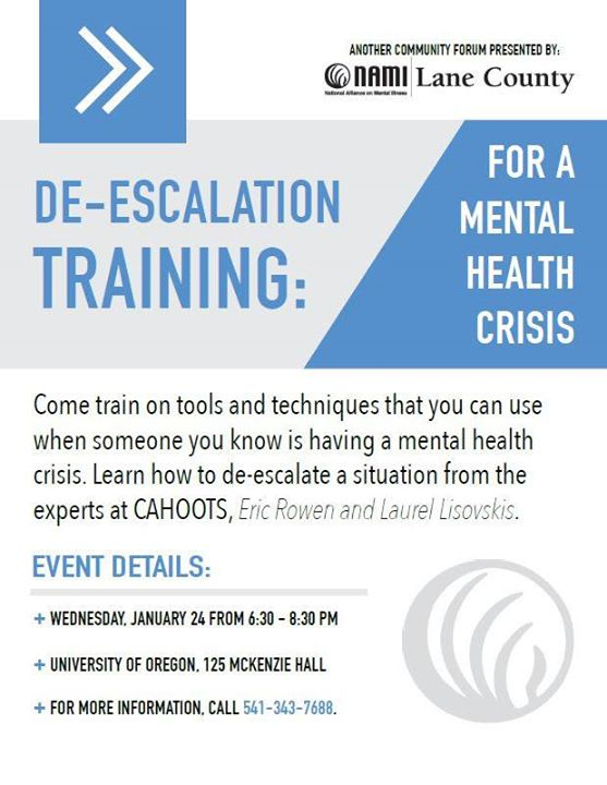De Escalation Training For A Mental Health Crisis At University Of