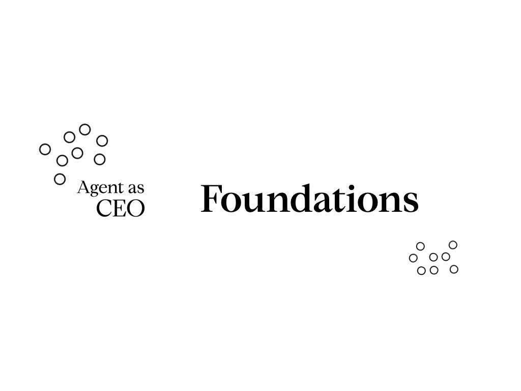 Agent as CEO Presents Foundations (Austin)