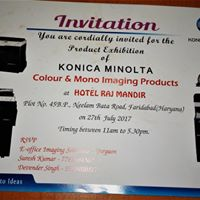 Photocopier Machine exhibition for konica minolta at Faridabad