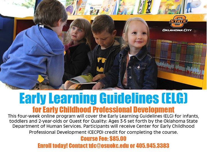 April Online Early Learning Guidelines (ELG) Class