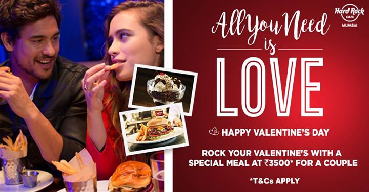 Valentines special Experience At Hard Rock Cafe Worli Mumbai
