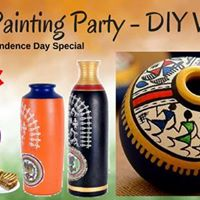 DIY Warli Pot Painting Party Independence Day Special