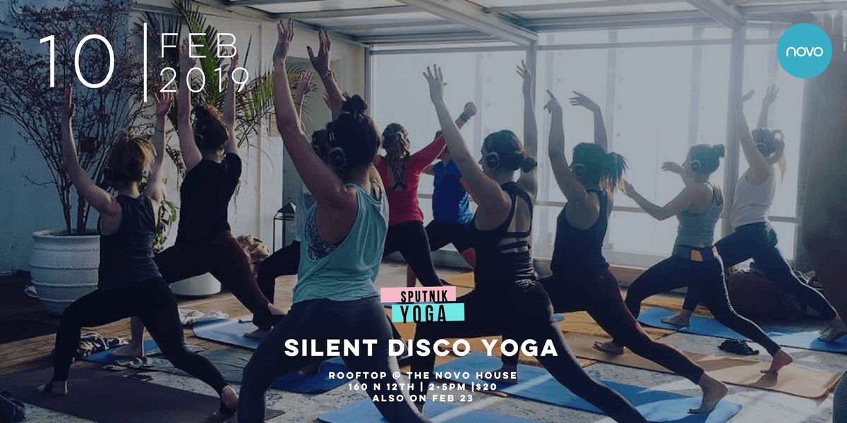 Sputnik Silent Disco Yoga & Fundraiser For Manhattan Childrens Center (Heated and Enclosed) Fundraiser March 16th