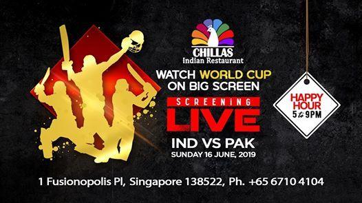 ICC CWC 2019 India Vs Pakistan LIVE Screening on Big Screen at