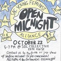 SYFA Open Mic Night