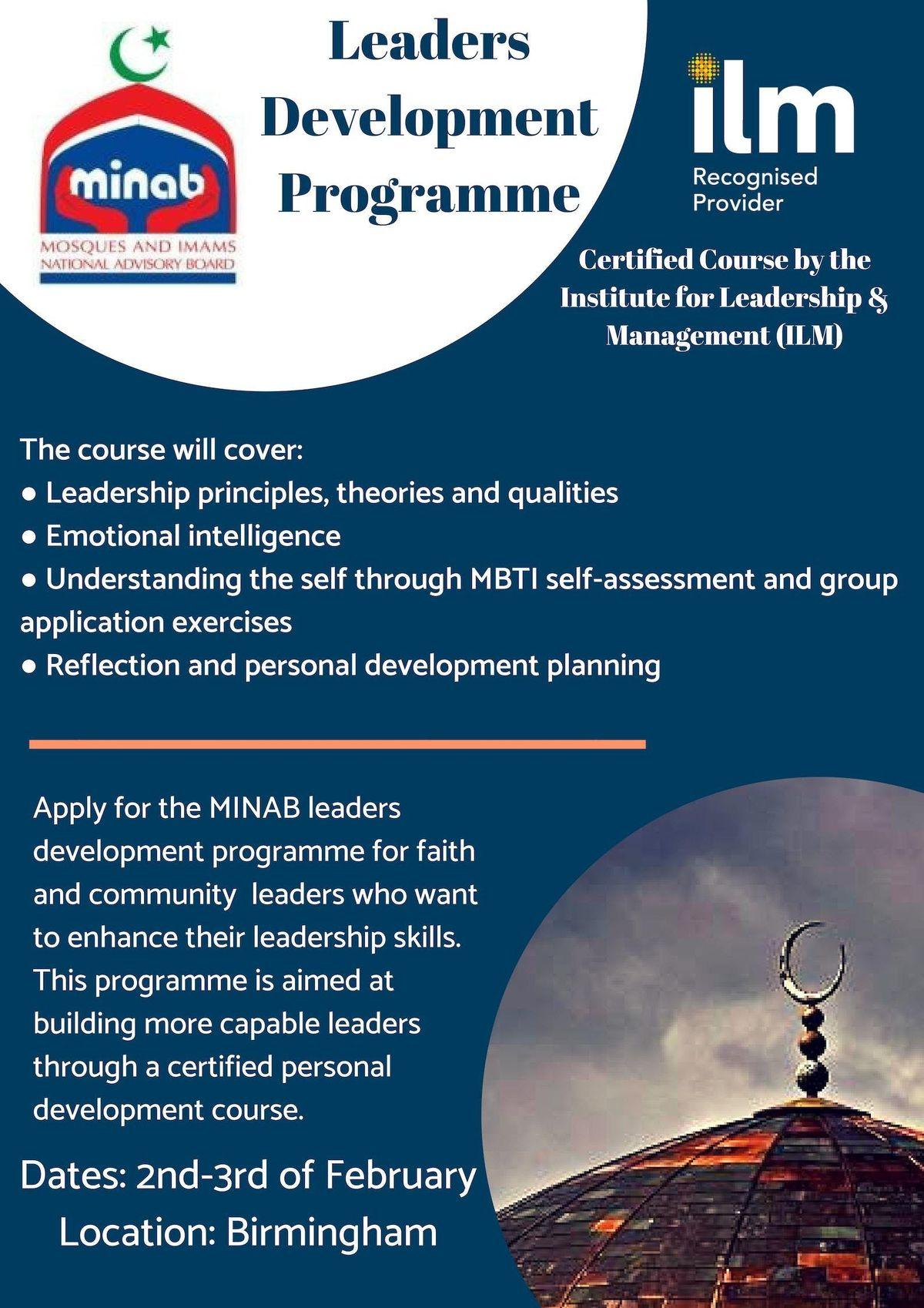 MINAB Leadership Development Programme in Manchester