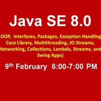Java SE 8.0 Course