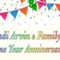 Padi Arvin and Familys One Year Anniversary