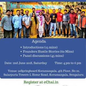 eChais Startup Hustle Series in Bangalore x 91Springboard