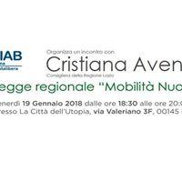 Incontro con Cristiana Avenali Consigliera alla Regione Lazio