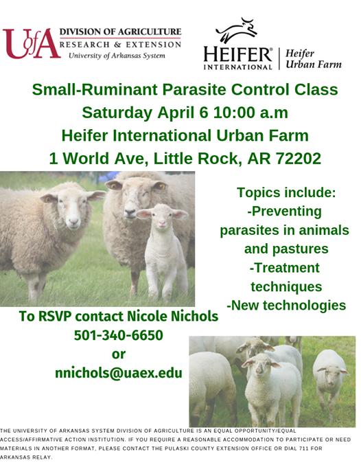 Small Ruminant Parasite Control Class