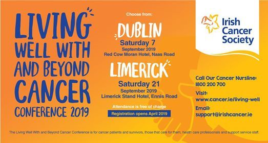 Living Well With and Beyond Cancer Conference 2019 - Dublin