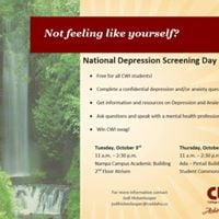 National Depression Screening Day--Ada