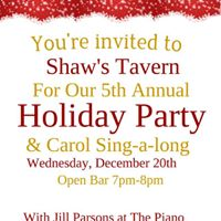 5th Annual Holiday Party &amp Carol Sing Along