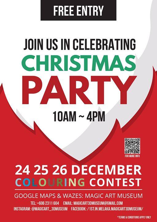christmas colouring contest at magic art 3d museum bukit katil