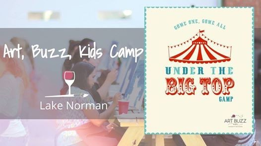 Kids Art Camp Under The Big Top At Wine Design Lake Norman Nc