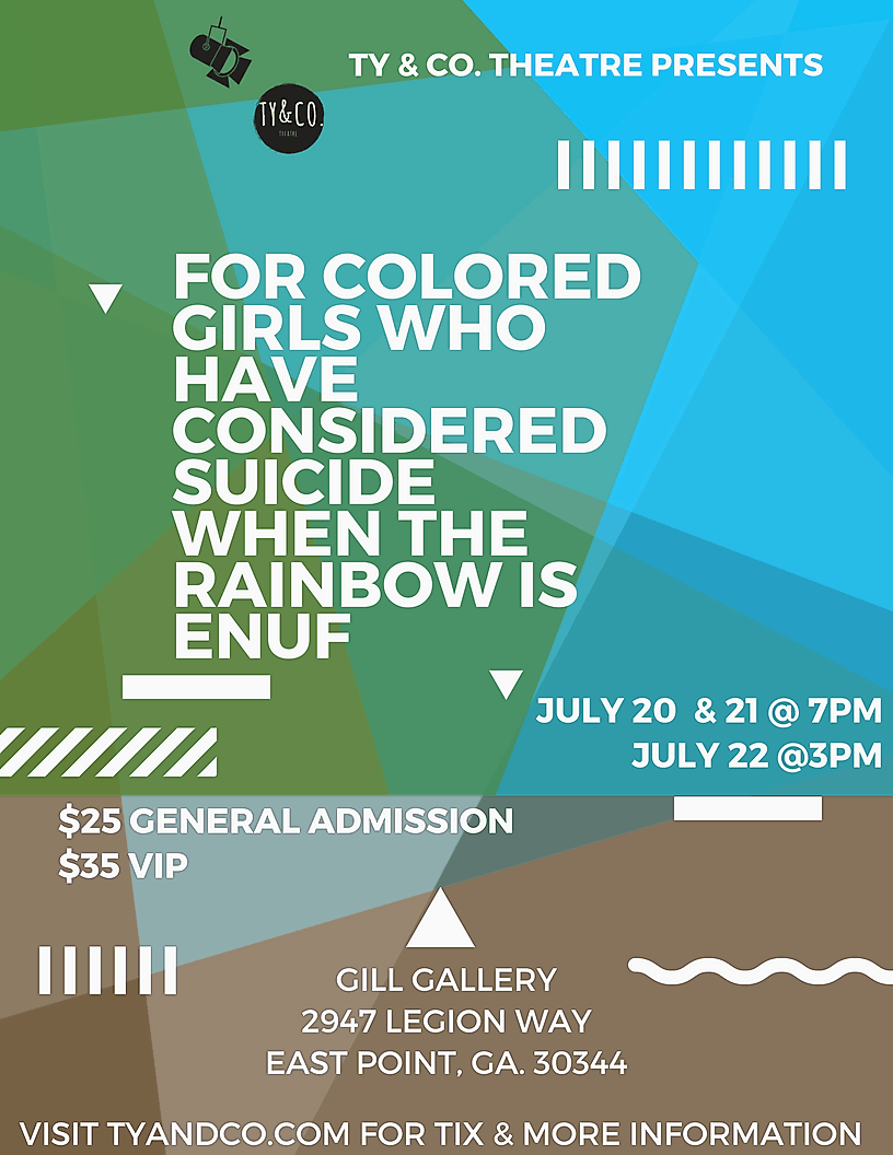 a literary analysis of for colored girls who have considered suicide For colored girls who have considered suicide/when the rainbow is enuf is a choreopoem by ntozake shange, developed as an experimental play performed entirely by women in poetry and dance.